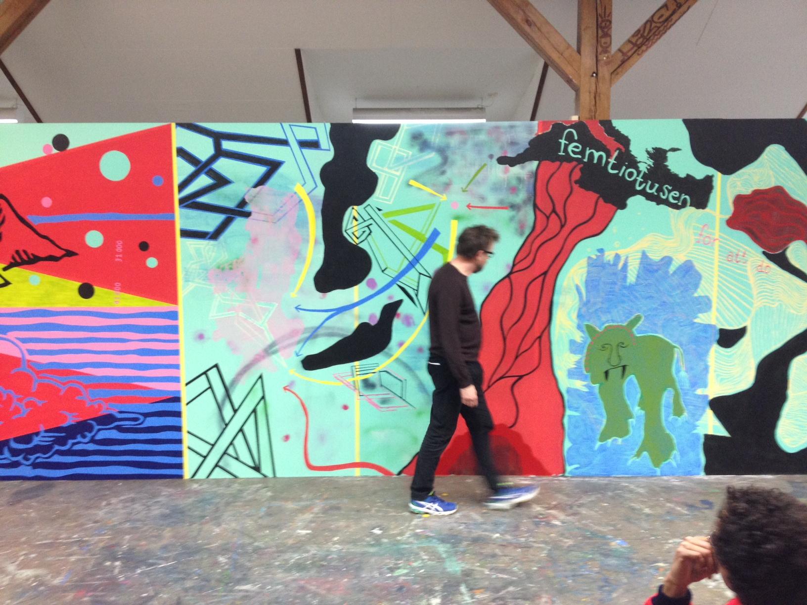 Maria Bajt gör en vägg